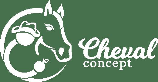 Logo de Cheval Concept | Relation cavalier-cheval, développement personnel, cours d'équitation western